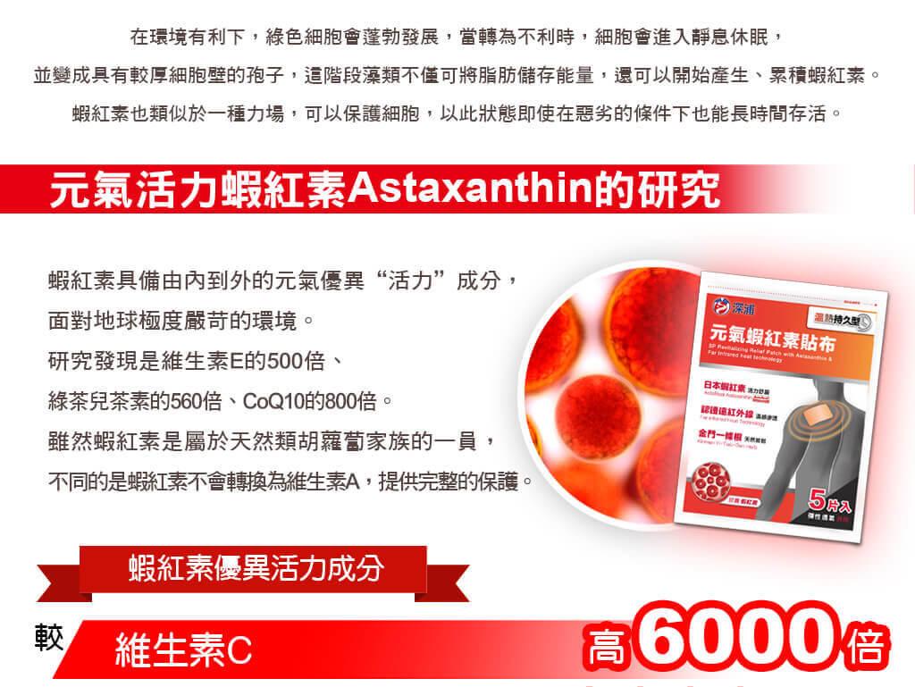 元氣活力蝦紅素Astaxanthin的研究
